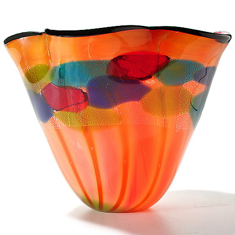 430-482 - Favrile 10.5'' Hand-Blown Art Glass Vase