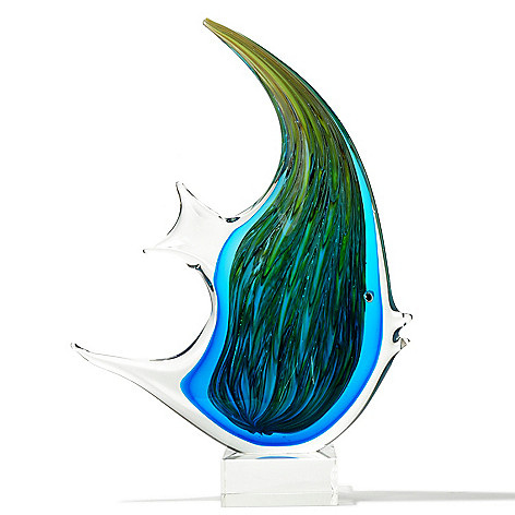 430-484 - Favrile 16'' Hand-Blown Art Glass Fish Figurine
