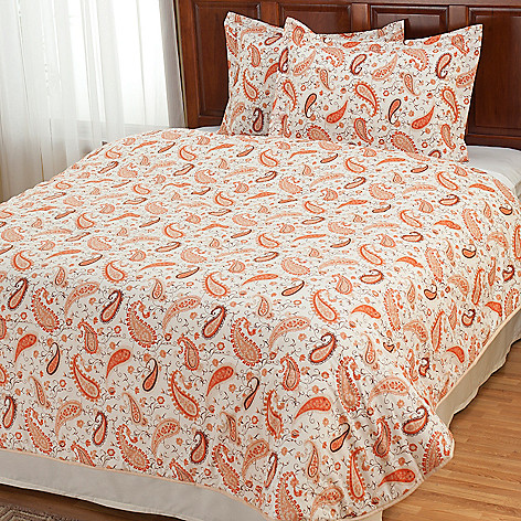 430-665 - Grand Suites® Four-Piece European Made Paisley Comforter Set