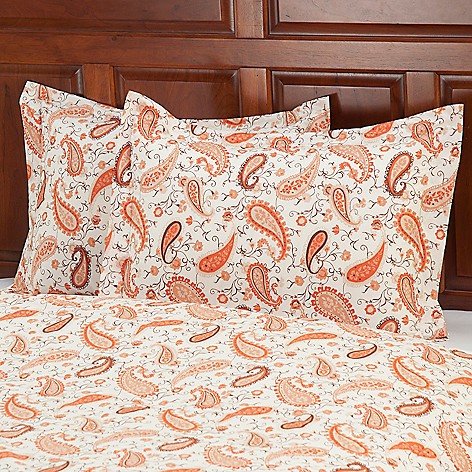 430-666 - Grand Suites® European Made Cotton/Poly Blend Paisley Sham Pair