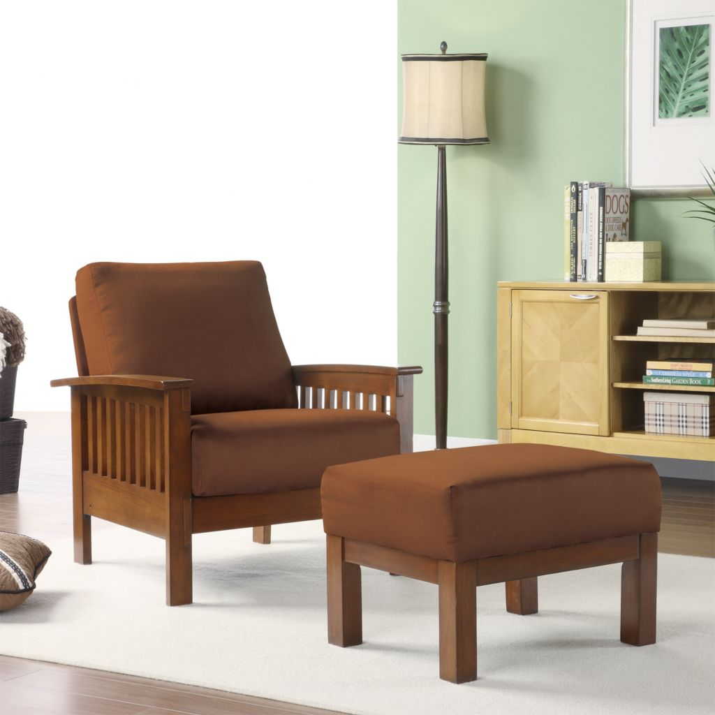 430-751 - Homebasica Mission Style Chair & Ottoman Set
