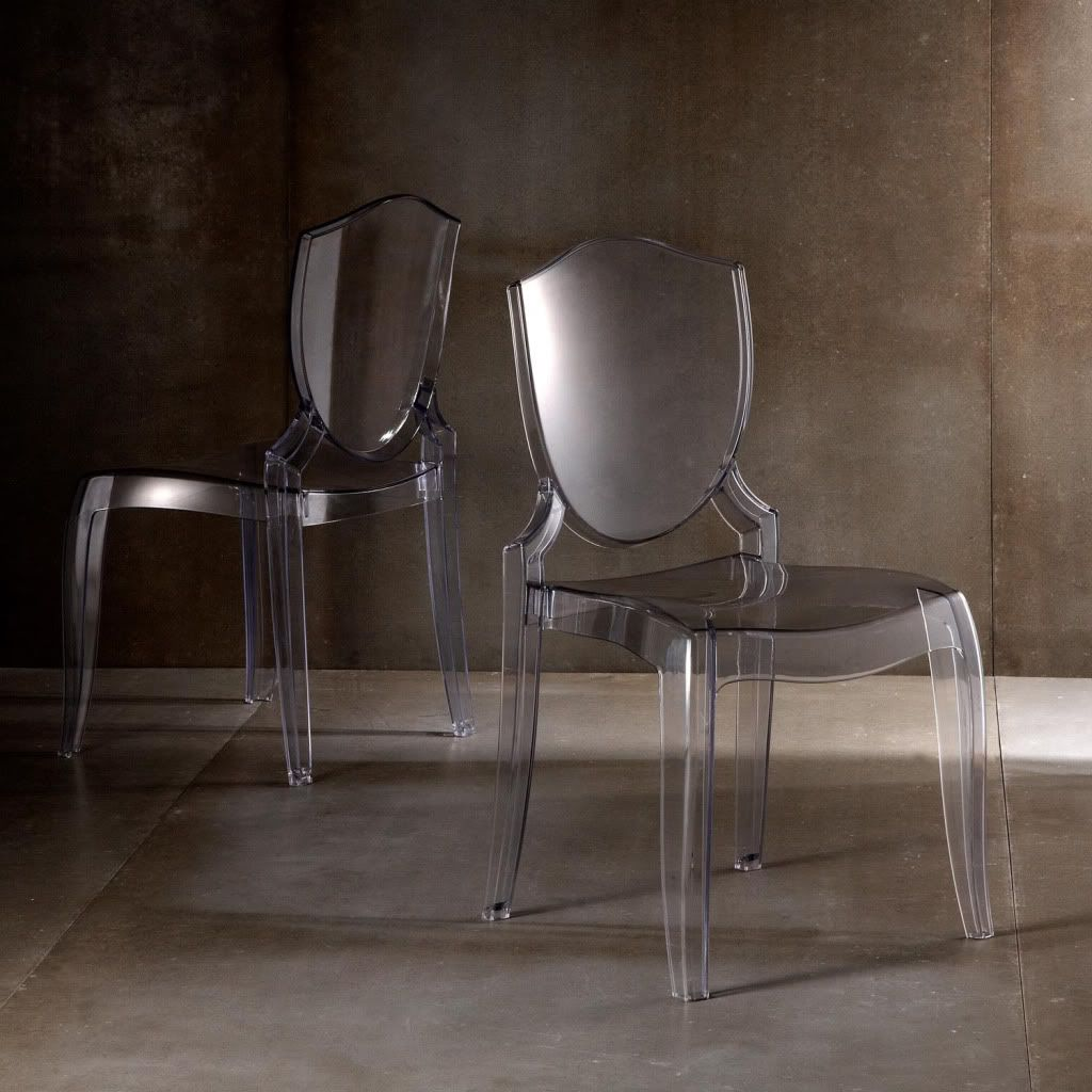 430-774 - Homebasica Set of Two Crystal Clear Polycarbonate Chairs