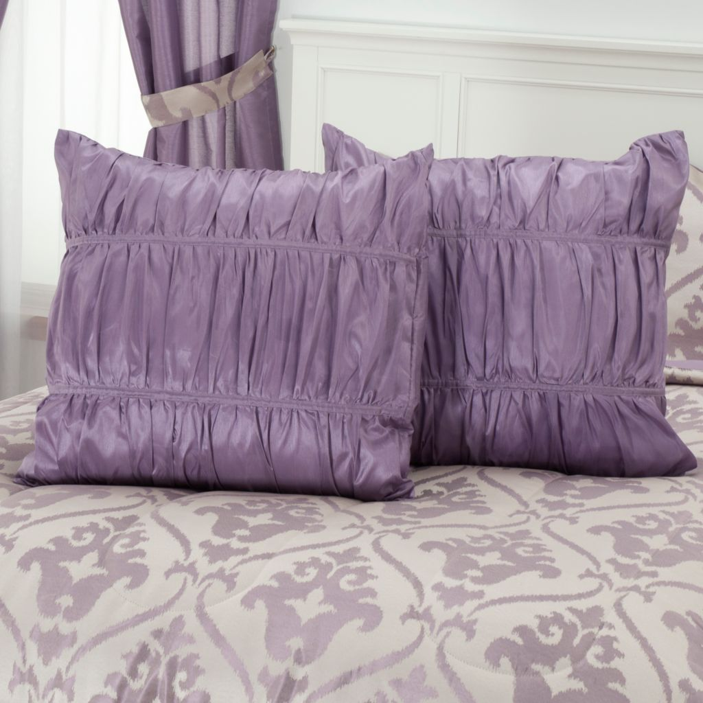 "430-962 - North Shore Linens™ ""Christy"" Set of Two Euro Shams"