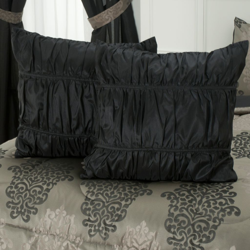 430-965 - North Shore Linens™ Jacquard Euro Sham Pair