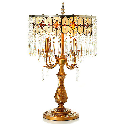 431-039 - Style at Home with Margie 28'' Jesabelle's Crystal Table Lamp