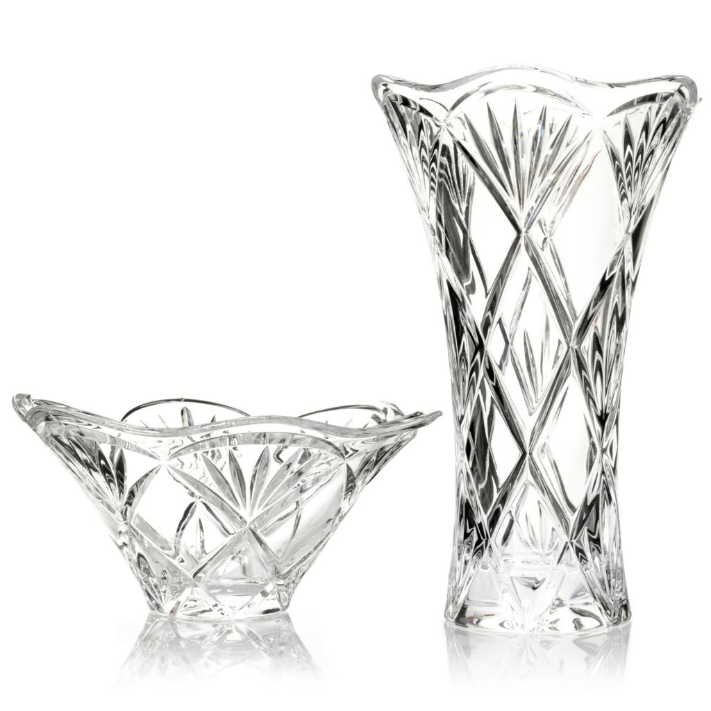 "431-147 - Marquis® by Waterford® Honour Crystalline 10"" Vase & 8.5"" Bowl"