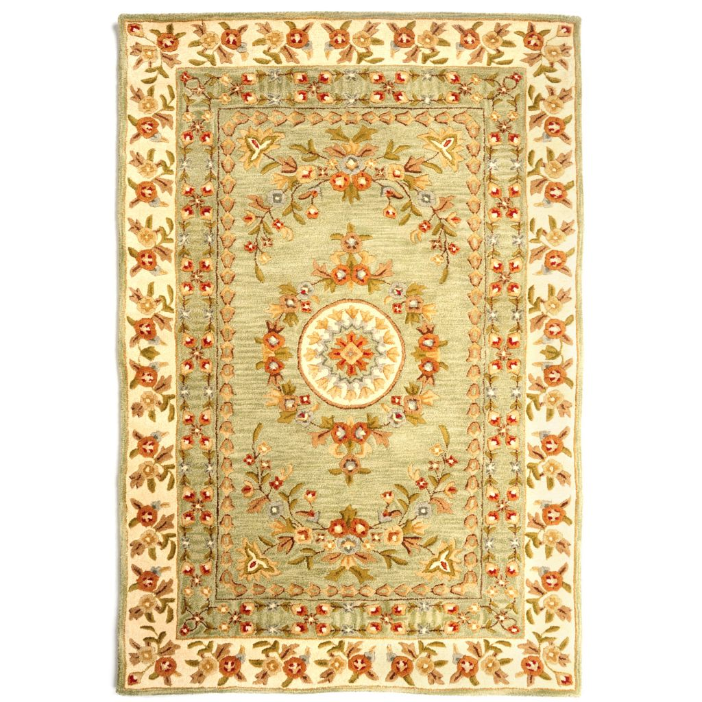 431-260 - Bashian Rugs 5' x 8' or 8' x 10' Floral Hand Tufted 100% Wool Rug