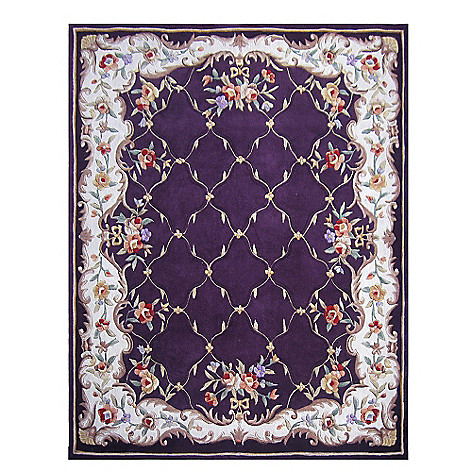 431-277 - Global Rug Gallery 5' x 8' or 8' x 10' Hand Tufted 100% Wool Lattice Rug