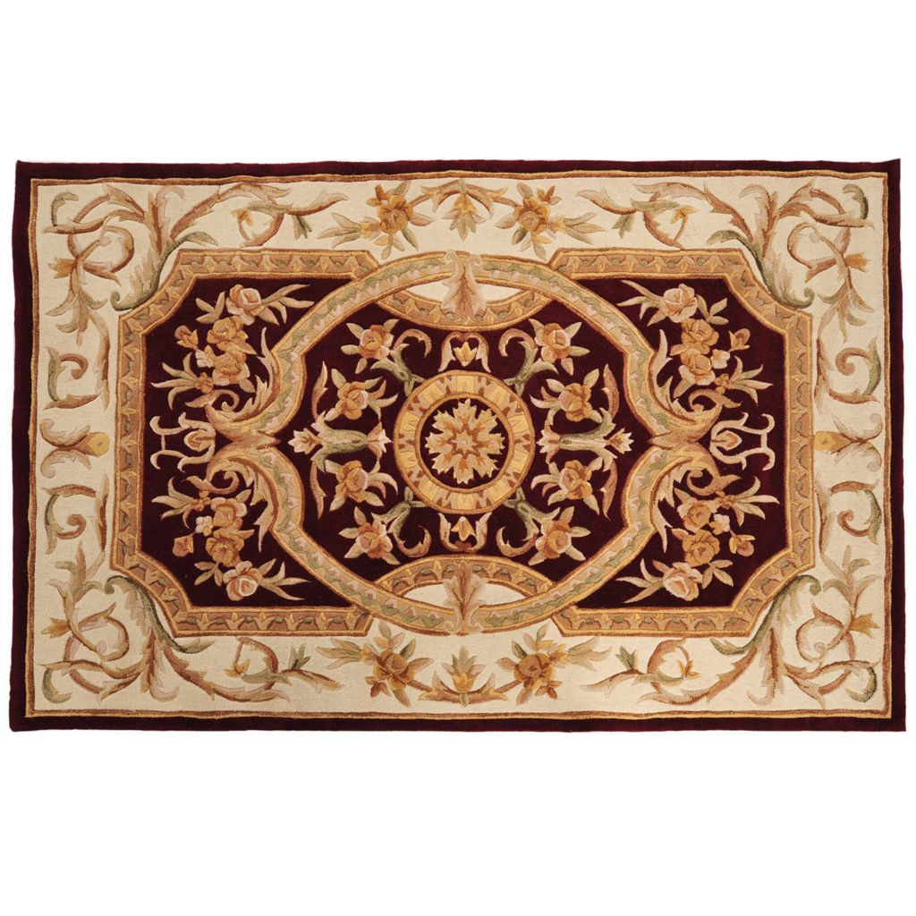 431-315 - Global Rug Gallery 5' x 8' or 8' x 10' Hand-Tufted 100% Wool & Artisan Silk Medallion Rug