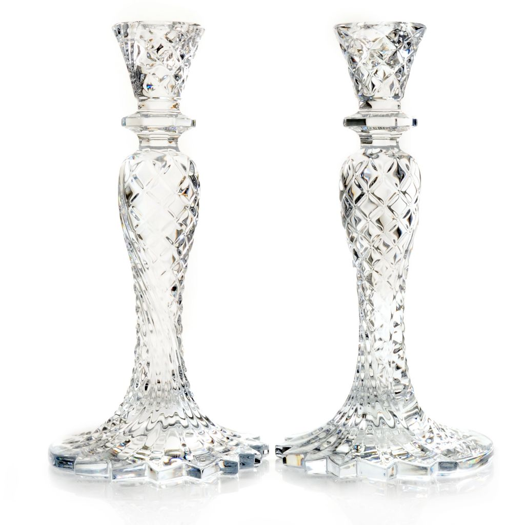 "431-322 - Waterford® Crystal Sea Jewel Set of Two 10"" Candlestick Holders"