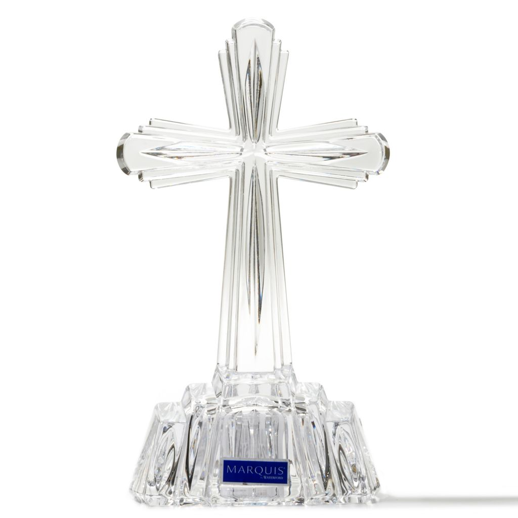 "431-330 - Marquis® by Waterford® 7"" Crystal ""Cross of the Faithful"" Figurine"