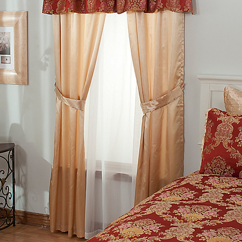 431-385 - North Shore Linens™ ''Annalee'' Four-Piece Window Set