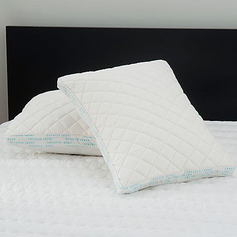 431-398 - Sharper Image® Set of Two Memory Foam Pillow Protectors