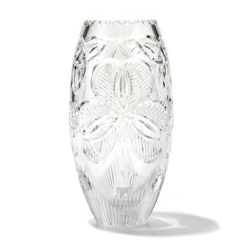 "431-559 - House of Waterford® Irish Shamrock 10"" Crystal Vase"