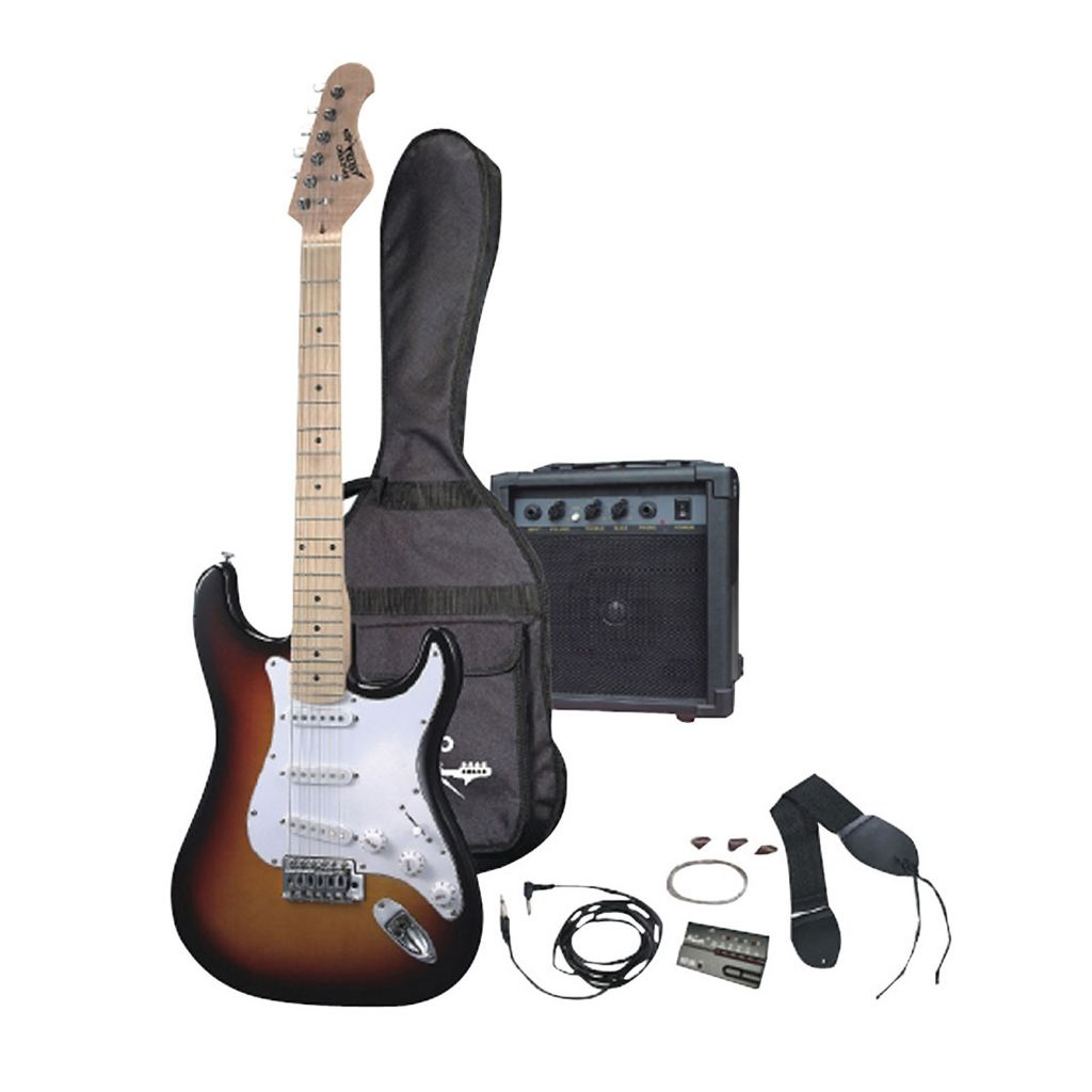 431-720 - Pyle Professional Electric Guitar Bundle w/ Amplifier, Gig Bag and Strap