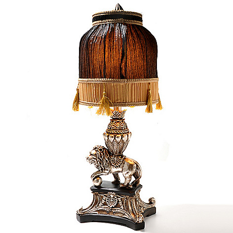 431-799 - Style at Home with Margie 28.25'' Asian-Inspired Lion Table Lamp