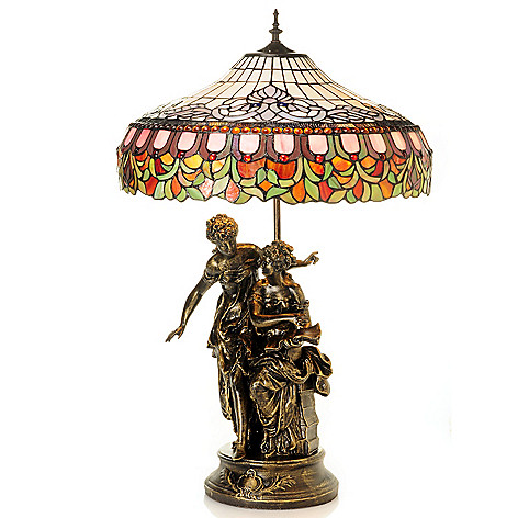 431-939 - Tiffany-Style 32'' The Secret Waltz Stained Glass Table Lamp