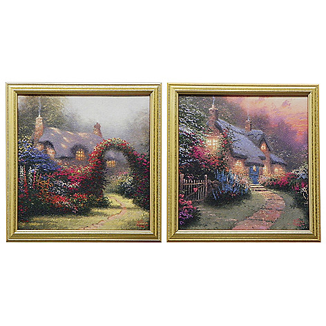431-973 - Thomas Kinkade ''Glory Collection'' Set of Two Framed Textured Prints