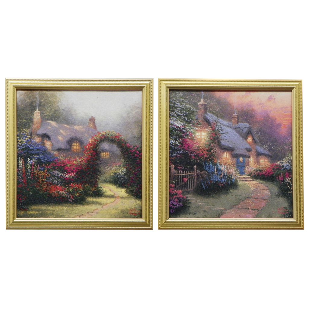 "431-973 - Thomas Kinkade ""Glory Collection"" Set of Two Framed Textured Prints"