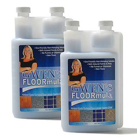 432-055 - Gwen's FLOORmula Set-of-Two 32 oz. Non-Toxic Floor Cleaner