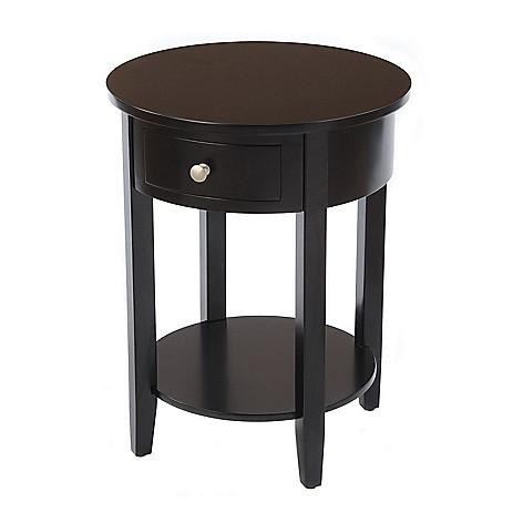 432-082 - Bay Shore Collection Round Accent Table w/ Drawer