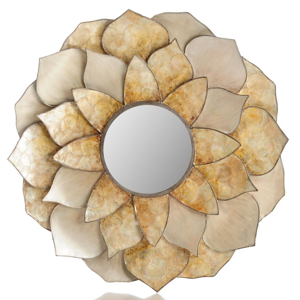 "432-180 - Style at Home with Margie 35"" Capriz Dahlia Acrylic Wall Mirror"