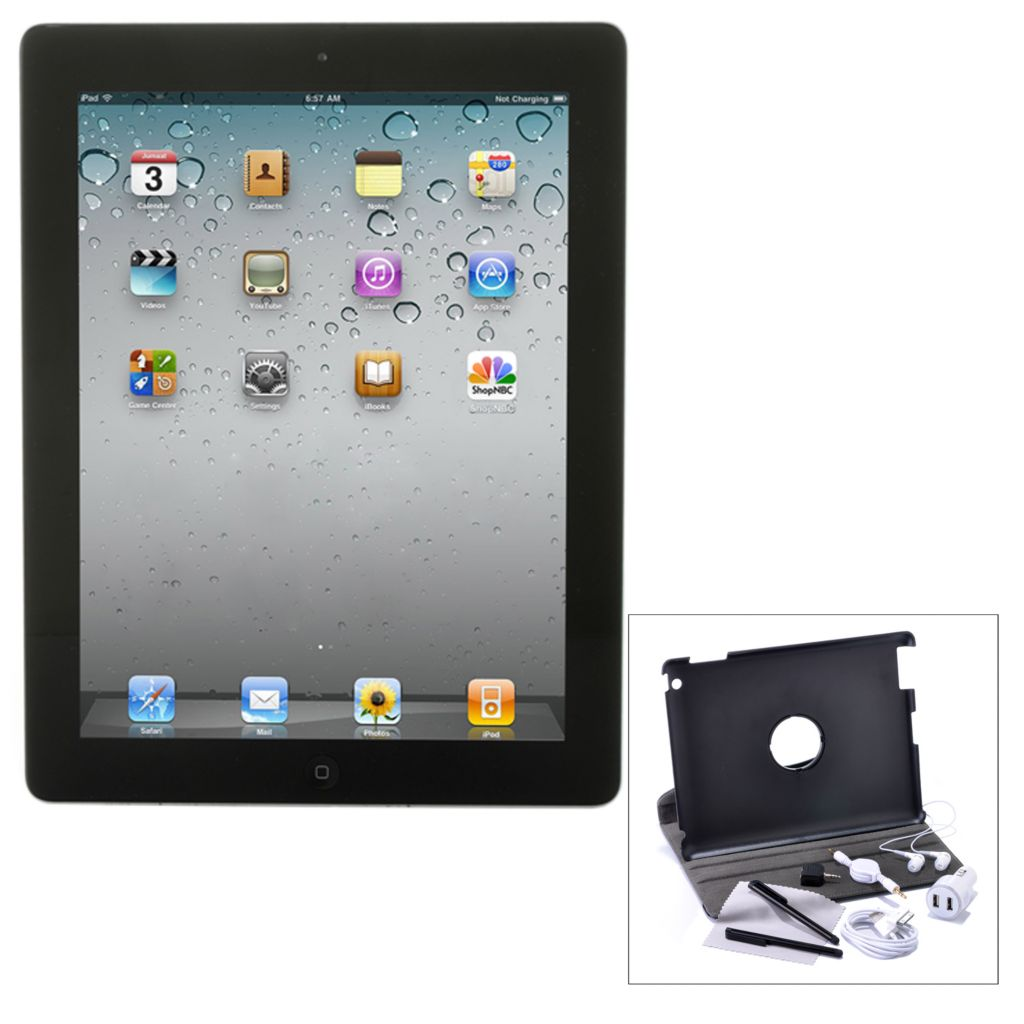 432-482 - Apple iPad 2 16GB Tablet w/ Nine-Piece Accessory Kit