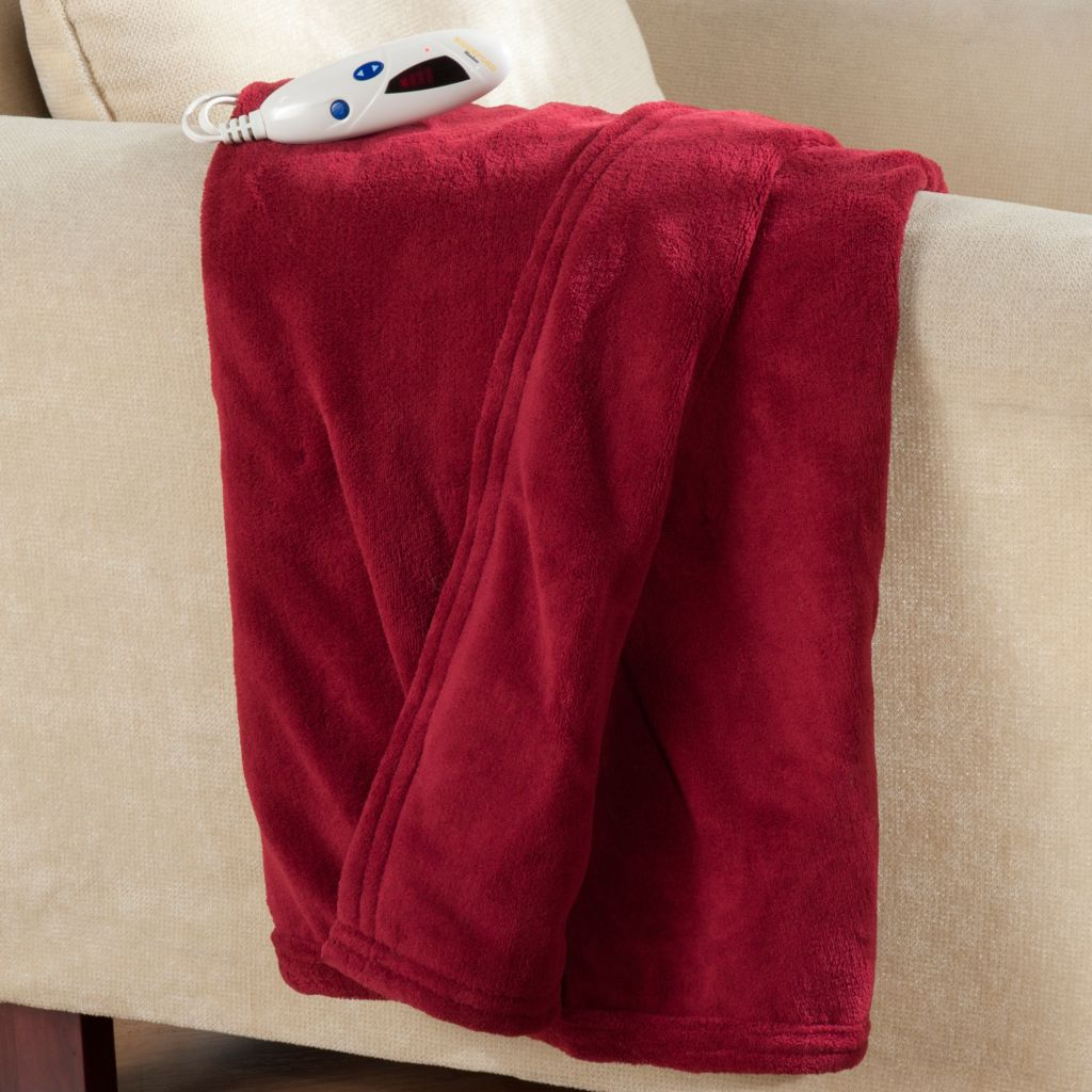 "432-497 - Cozelle® 62"" x 50"" Micro Plush Digital Electric Throw"