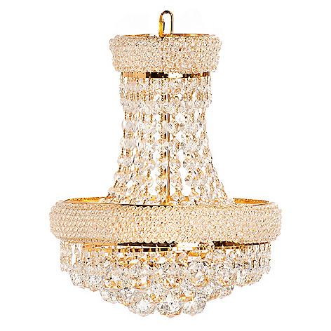432-505 - Crystal Lighting Statements 17.5'' Empire Crystal Glass Chandelier