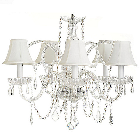 432-513 - Crystal Lighting Statements 25'' Venetian-Style Crystal Glass Chandelier