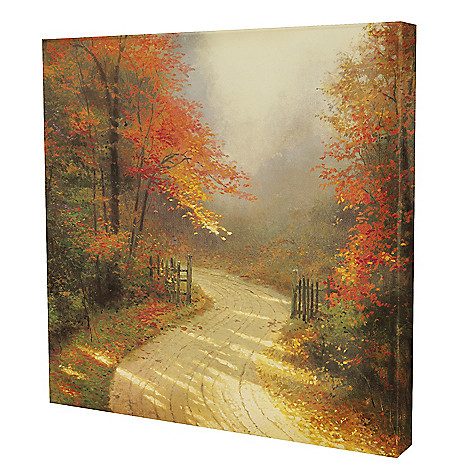 432-528 - Thomas Kinkade ''Autumn Lane'' 20'' x 20'' Gallery Wrap
