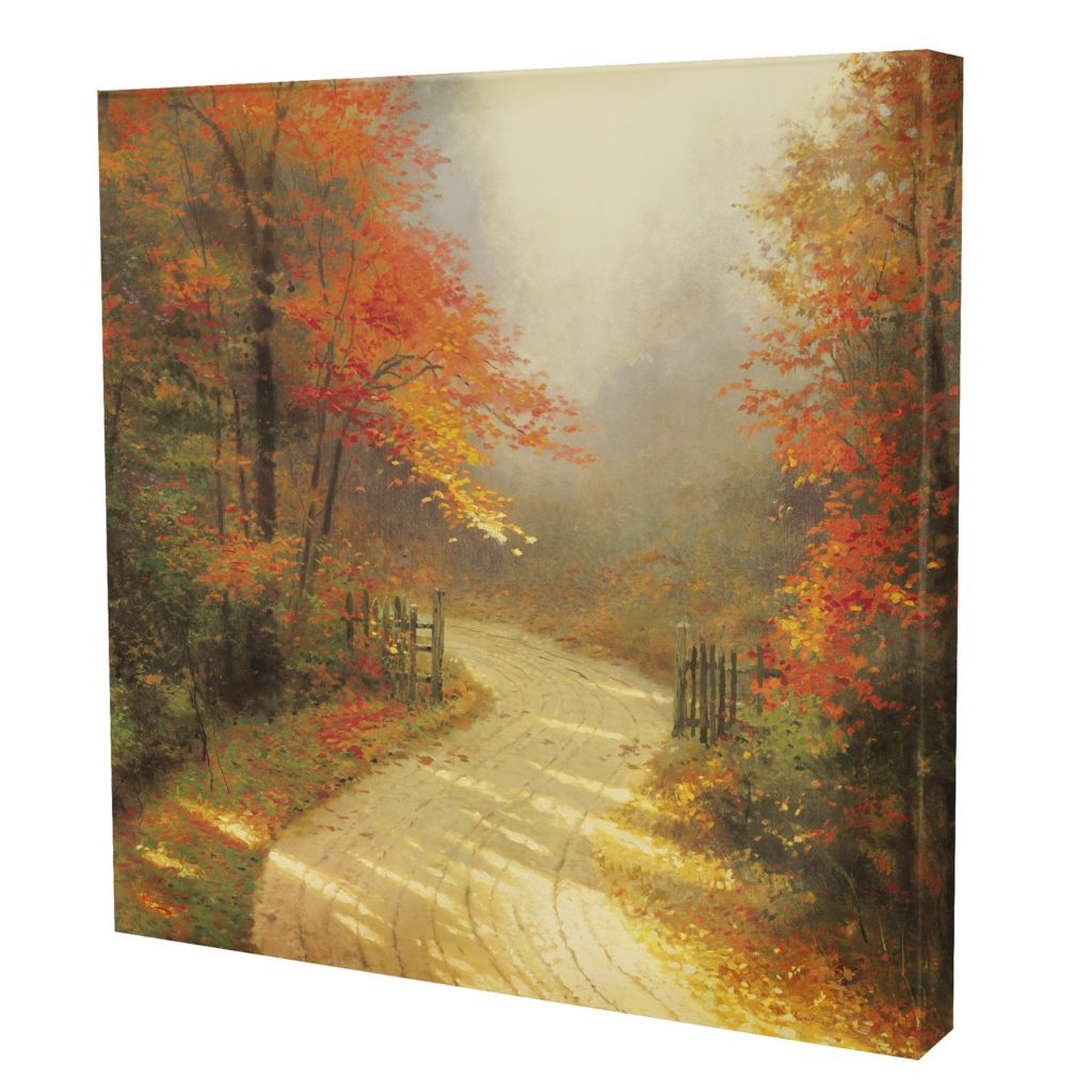 "432-528 - Thomas Kinkade ""Autumn Lane"" 20"" x 20"" Gallery Wrap"