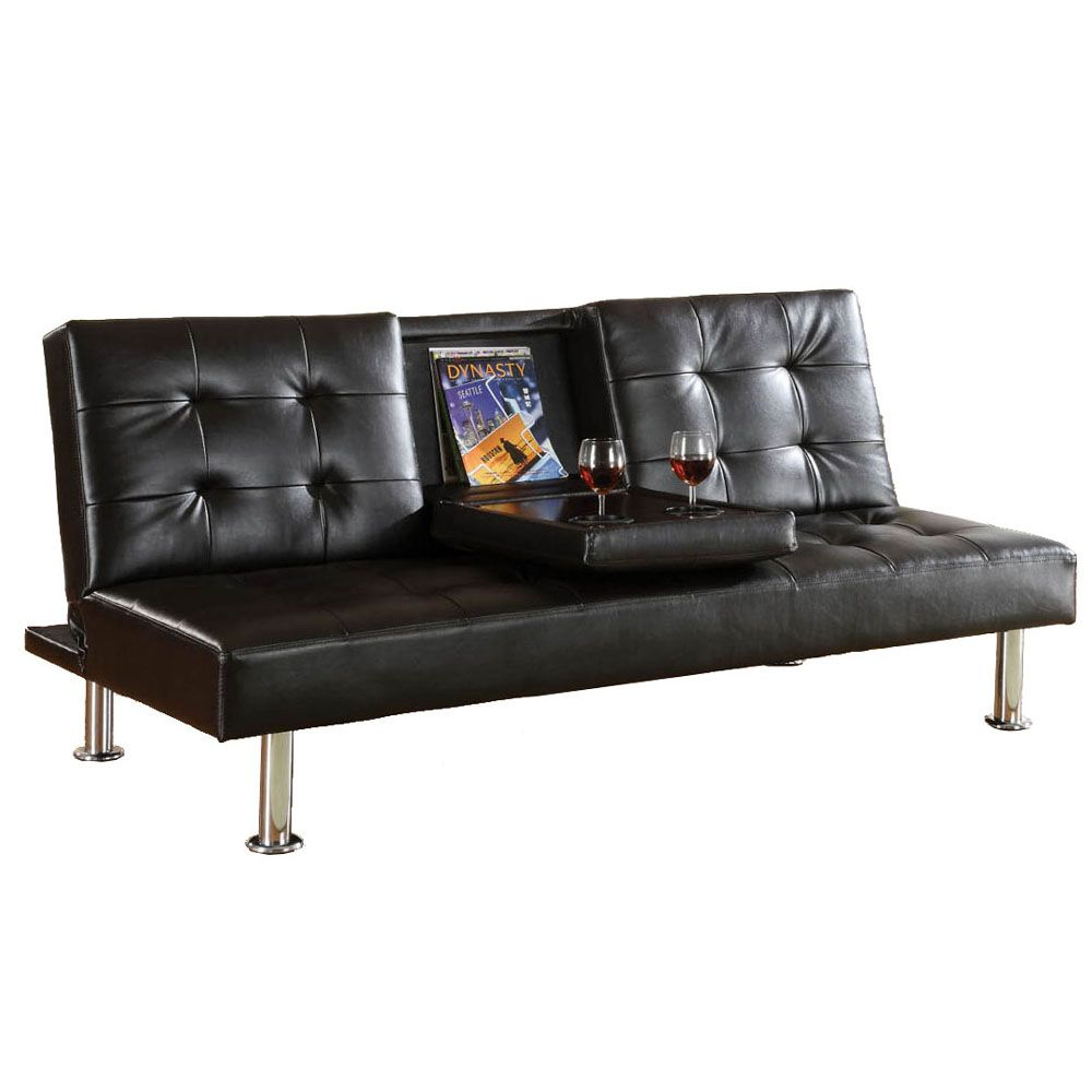 432-772 - Furniture of America™ Orinda Leatherette Futon Sofa