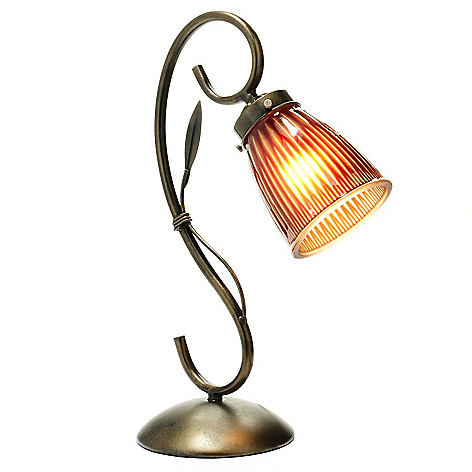 432-997 - Style at Home with Margie 15.75'' O'Bryan's Banded Whimsical Desk Lamp