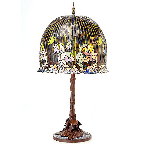433-004 - Tiffany-Style 34.5'' Pond Lily Stained Glass Table Lamp