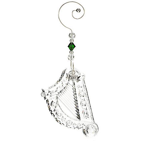433-249 - Waterford® Crystal Irish Charms 3-2/5'' Harp Ornament
