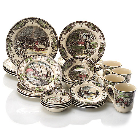 433-260 - Johnson Brothers® Friendly Village 28-Piece Earthenware Dinnerware Set