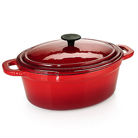 433-278 - Cook's Tradition™ Enameled Cast Iron Oval Dutch Oven w/ Lid