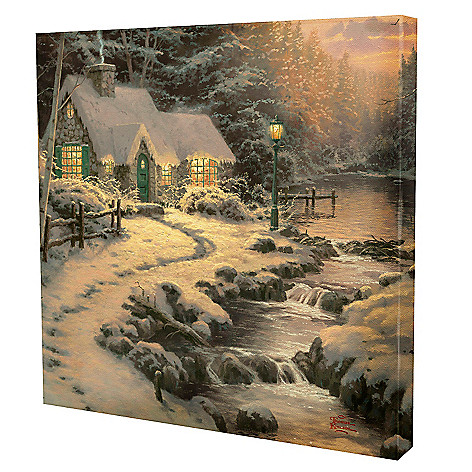 433-295 - Thomas Kinkade ''Evening Glow'' 24'' x 24'' Gallery Wrap