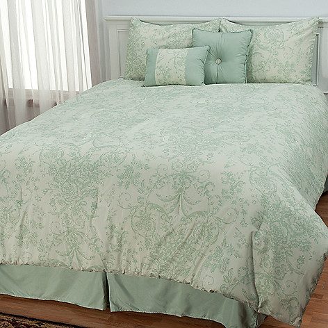 433-300 - North Shore Linens™ ''Wilmington'' Six-Piece Bedding Ensemble