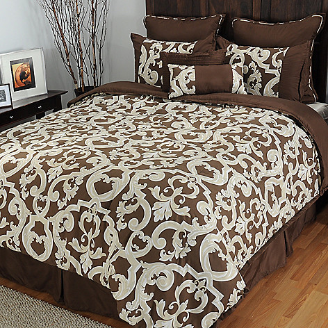 433-303 - North Shore Linens™ ''Durham'' Microfiber Eight-Piece Bedding Ensemble
