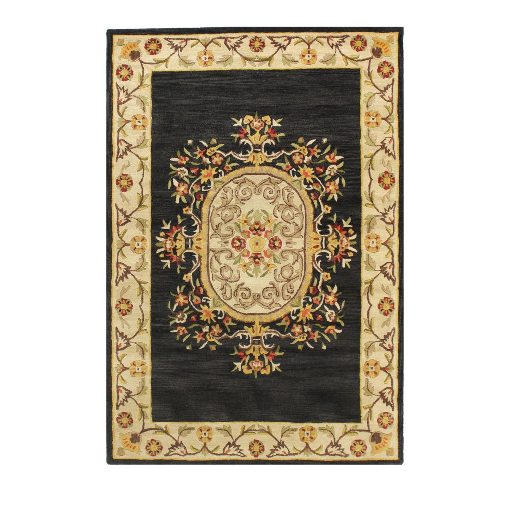 433-762 - Bashian Rugs French Aubusson-Style Hand Tufted 100% Wool Rug