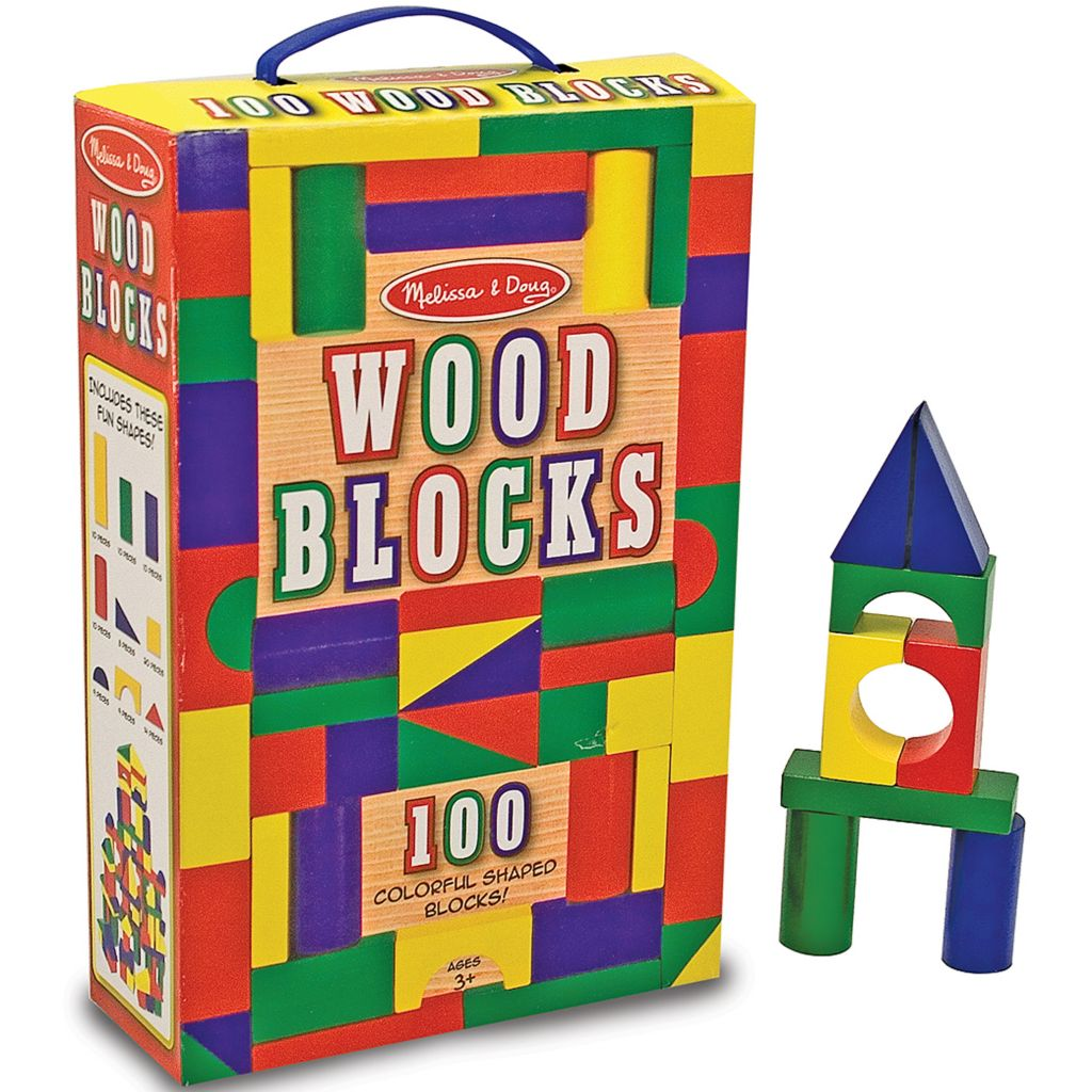 433-813 - Melissa & Doug® 100 Wood Blocks Set