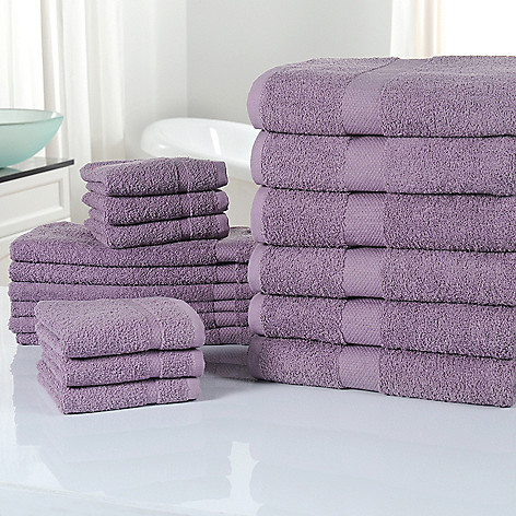 433-913 - Cozelle® 18-Piece Ultra-Absorbent 100% Cotton Towel Set