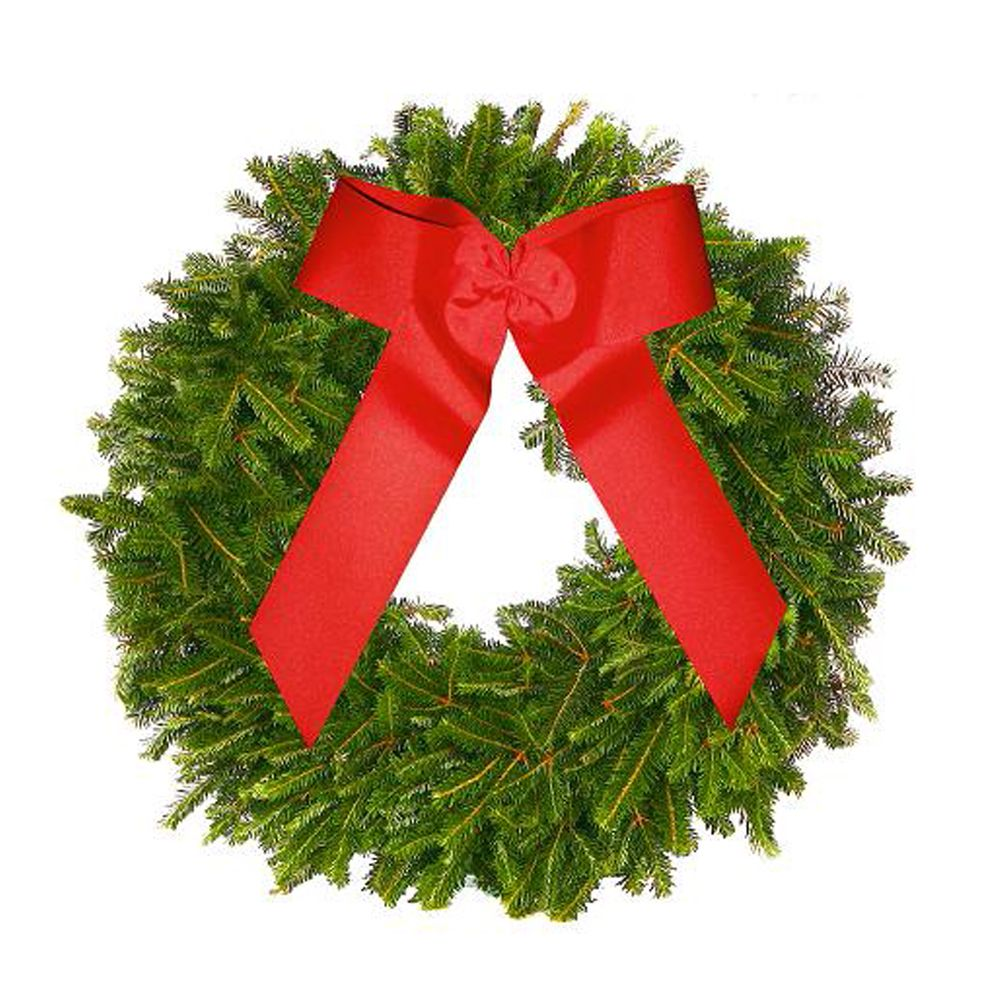 433-958 - The Christmas Tree Company Fraser Fir Premium Holiday Wreath w/ No-Swing Wreath Hanger