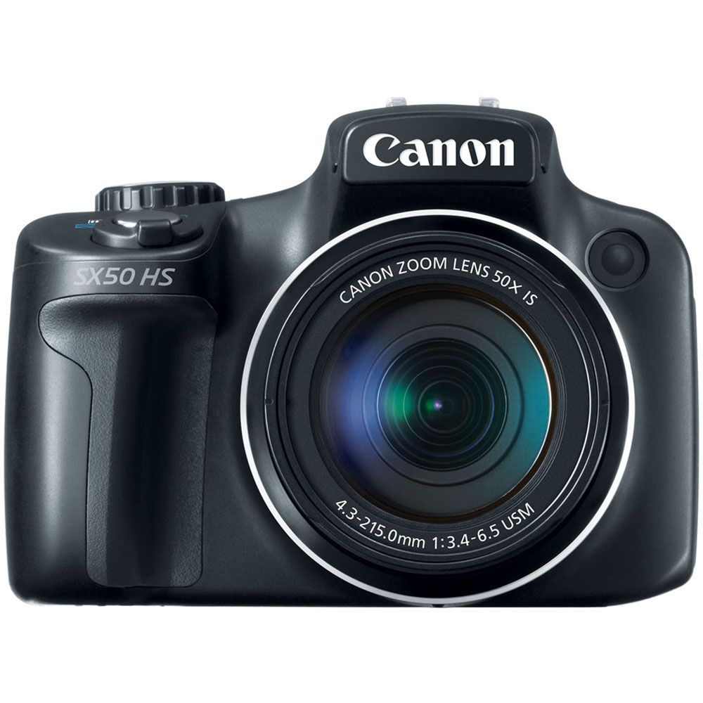 433-963 - Canon 6352B001 PowerShot SX50 HS Black 12.1MP Compact Digital Camera