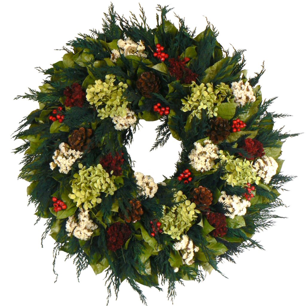 "434-018 - The Christmas Tree Company 22"" Round Winter Wish Wreath"