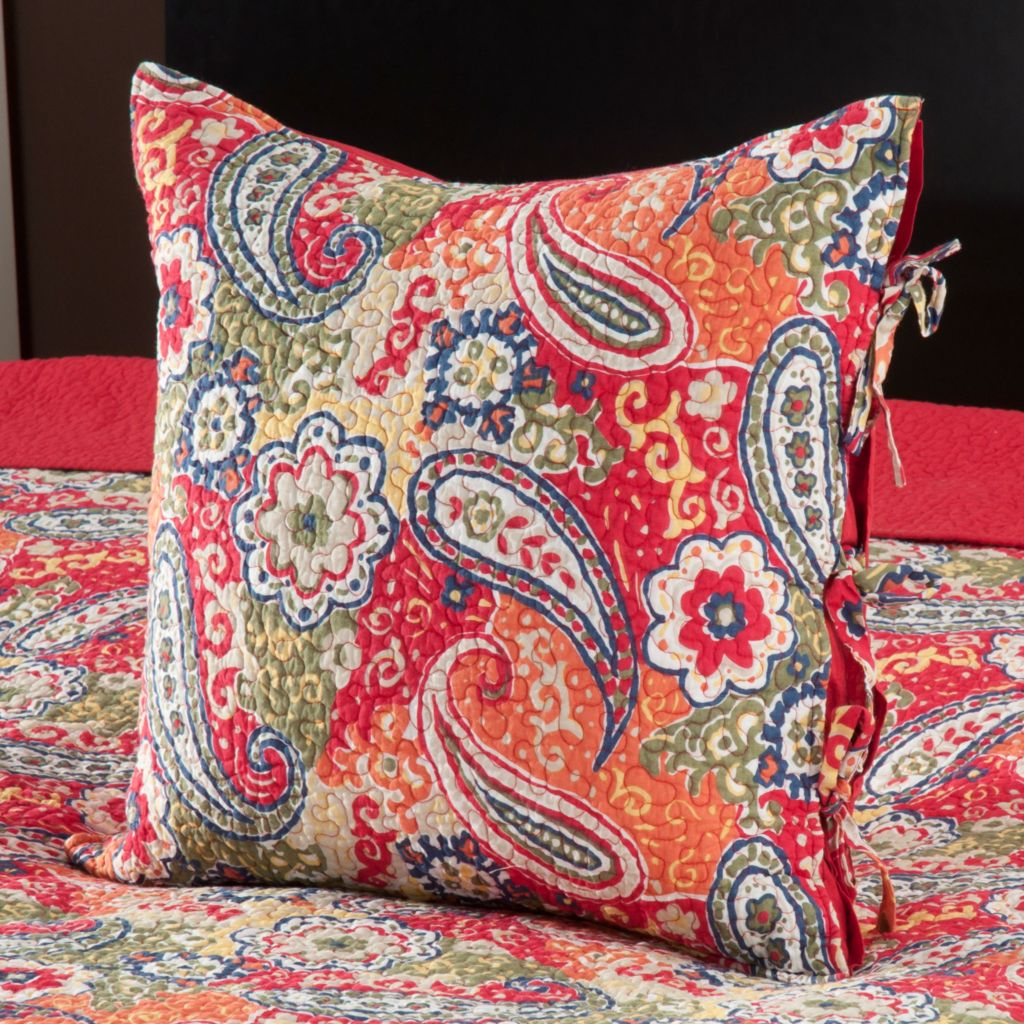 "434-055 - North Shore Linens™ ""Colonial Paisley"" 20"" x 20"" Decorative Pillow"