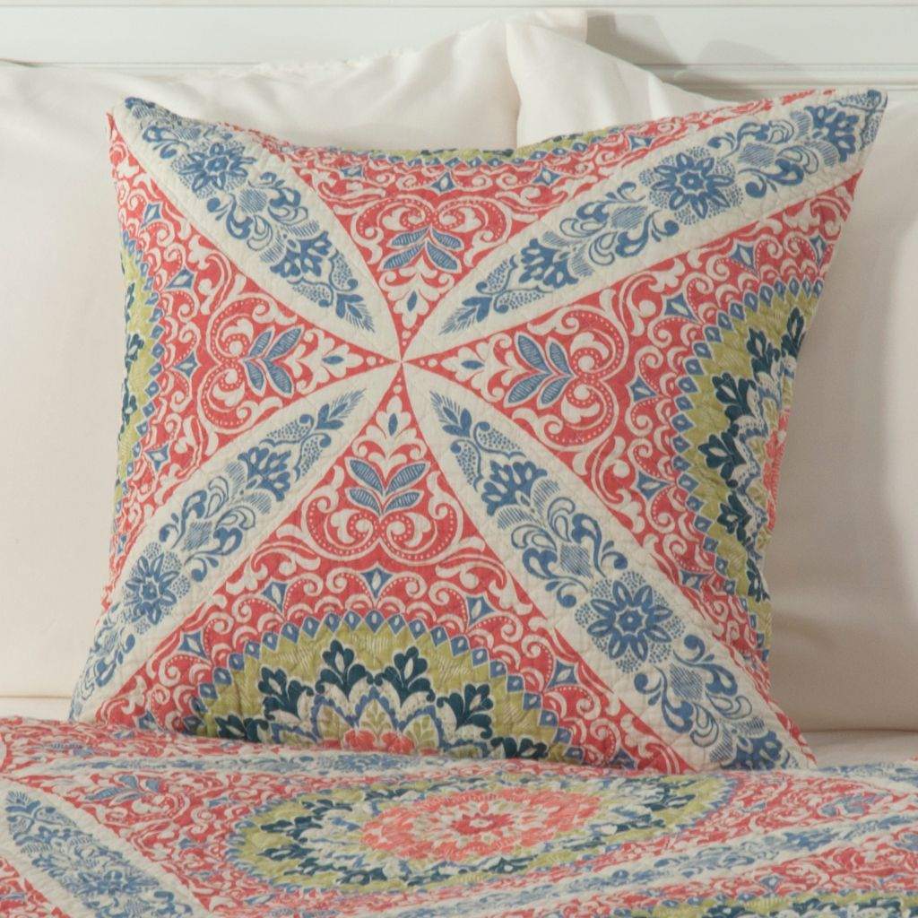 "434-067 - North Shore Linens™ ""Zola"" Cotton 20"" x 20"" Decorative Pillow"