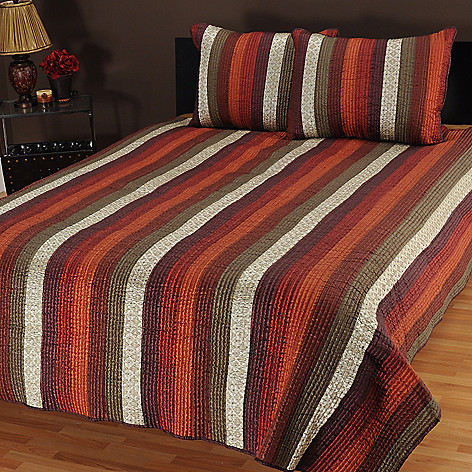 434-068 - North Shore Linens™ ''Venetian Stripe'' Three-Piece Coverlet Set